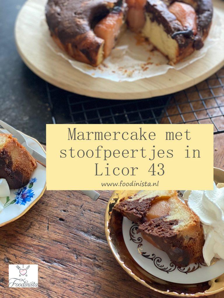 Marmercake recept met Stoofpeertjes in Licor 43 - Bakrecept van Foodblog Foodinista
