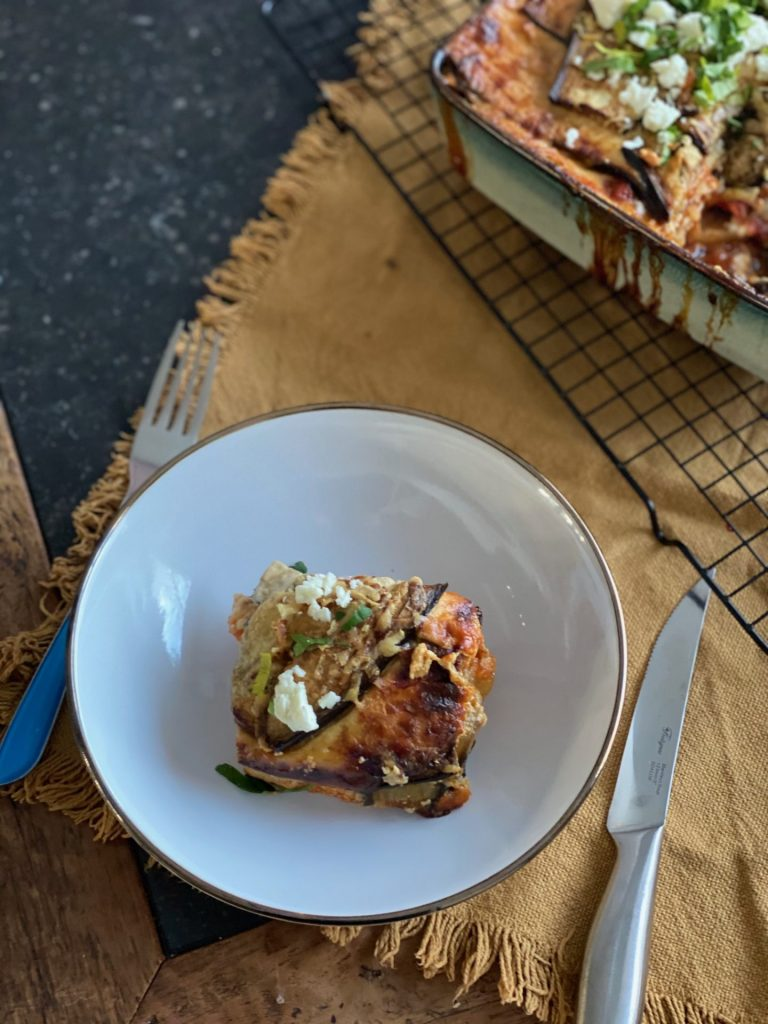 Griekse Moussaka met kipgehakt - Foodblog Foodinista