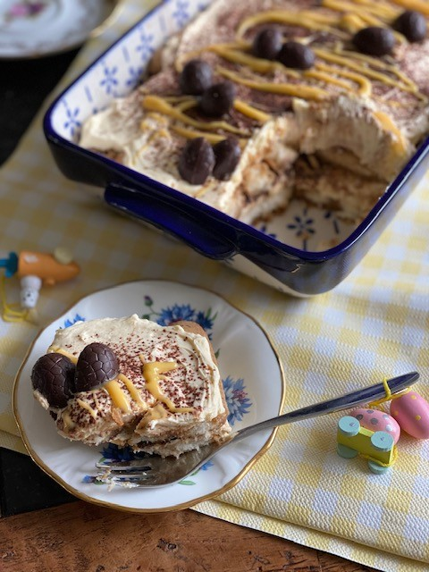 Advocaat tiramisu voor de Paasdagen - Tiramisu recept van Foodblog Foodinista
