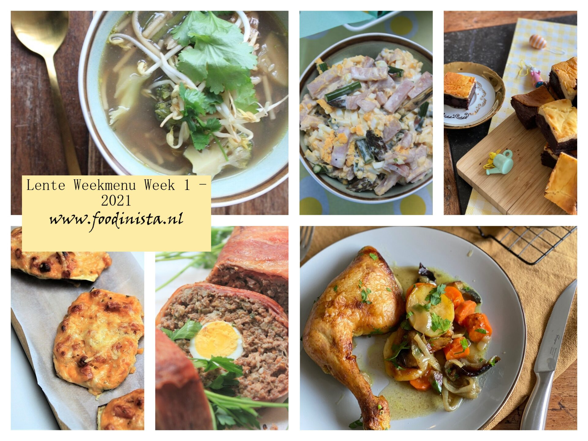 Foodblog Foodinista weekmenu – Wat eten we deze week? – Weekmenu Week 1 Lente 2021
