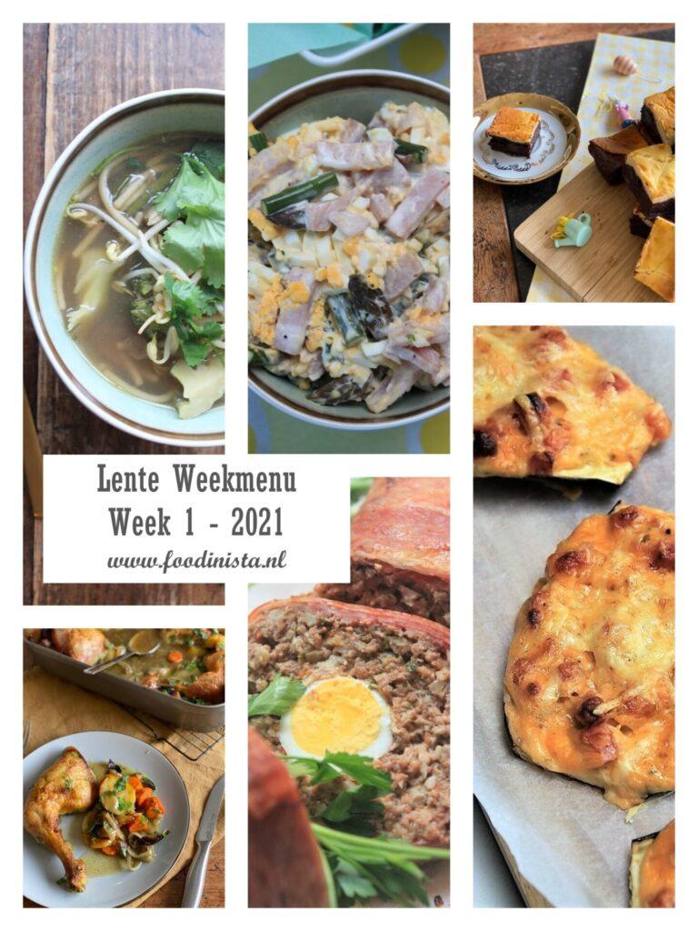Foodblog Foodinista weekmenu – Wat eten we deze week? – Weekmenu Week 1 Lente 2021