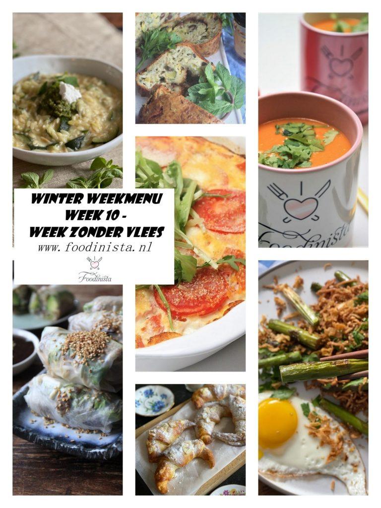 Weekmenu Week 10 - Week zonder Vlees weekmenu - Foodblog Foodinista