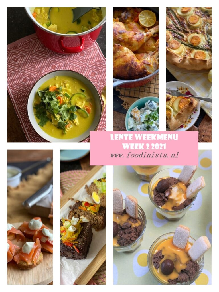 Foodblog Foodinista weekmenu – Wat eten we deze week? – Weekmenu Week 2 Lente 2021