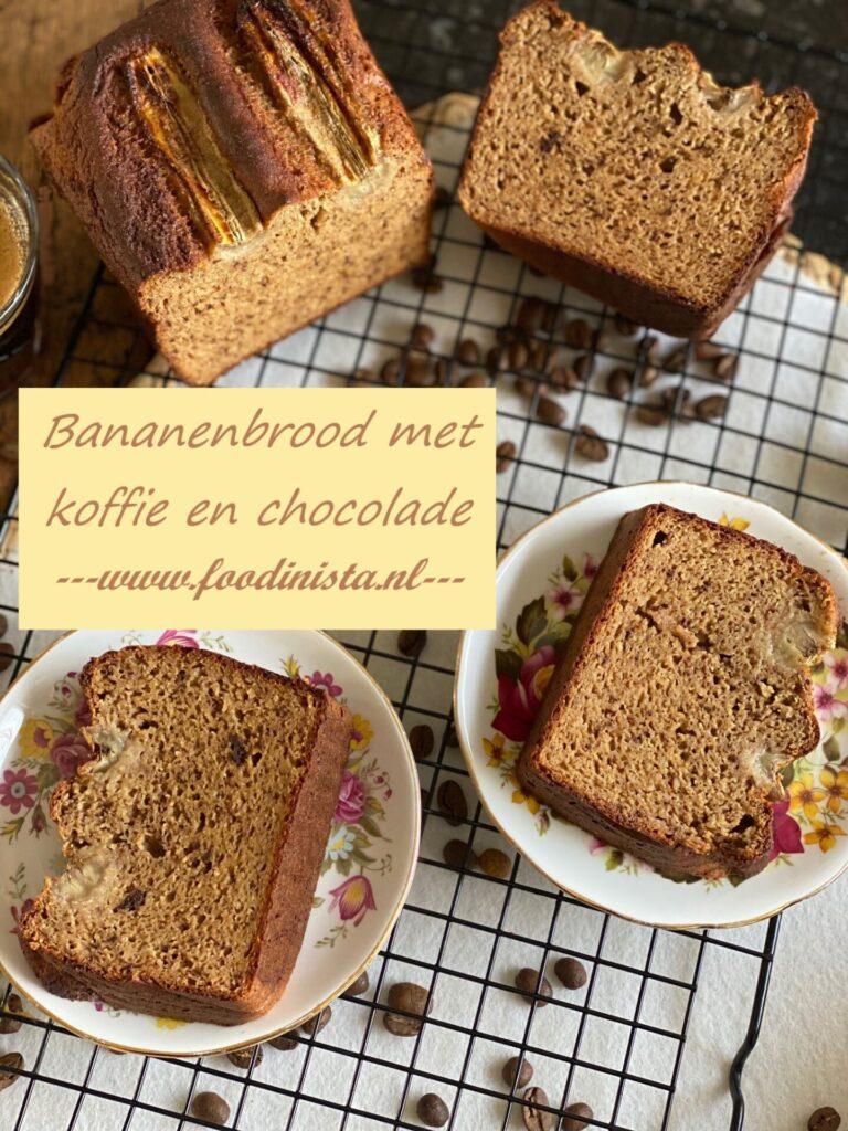 Bananenbrood recept met chocolade en koffie - Foodblog Foodinista