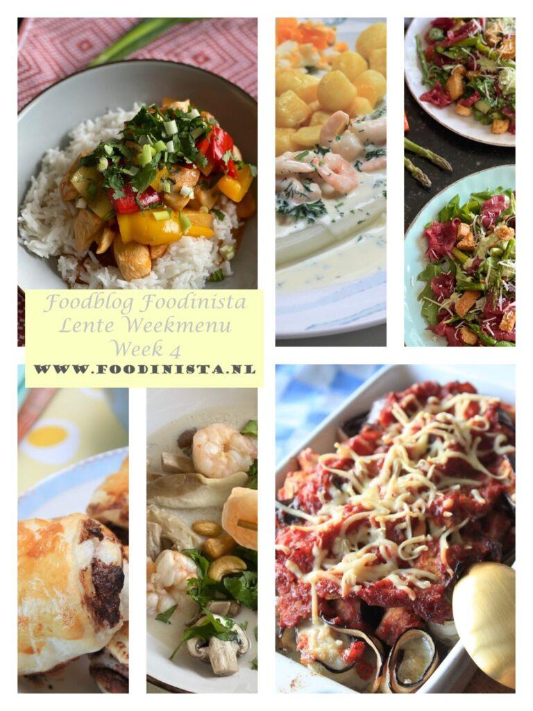 Wat eten we deze week? – Weekmenu Week 4 Lente 2021 - Foodblog Foodinista