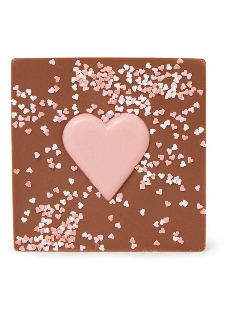 Chocoladetablet met roze hart - Cadeautjes tips voor Moederdag