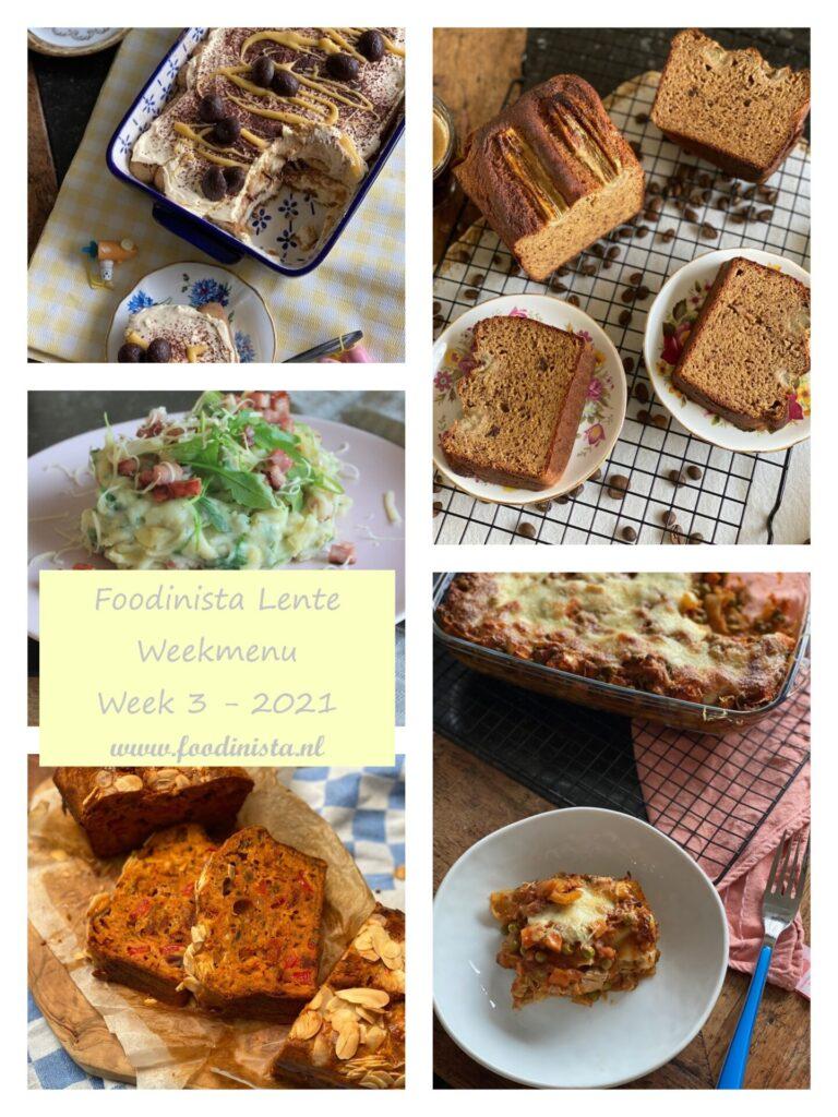 Foodblog Foodinista weekmenu – Wat eten we deze week? – Weekmenu Week 3 Lente 2021