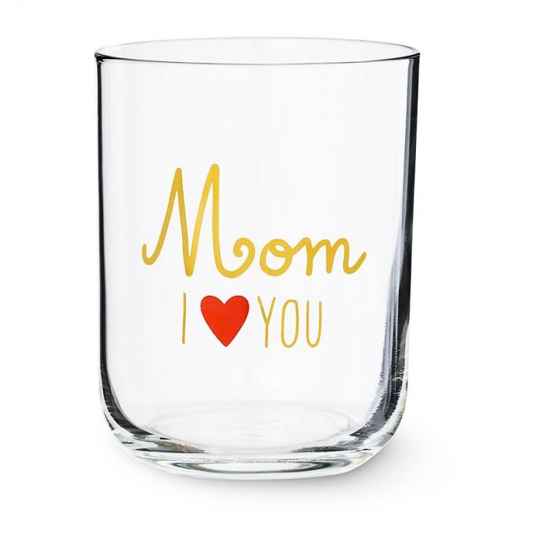 mom I love you glazen - Kleine cadeautjes voor Moederdag