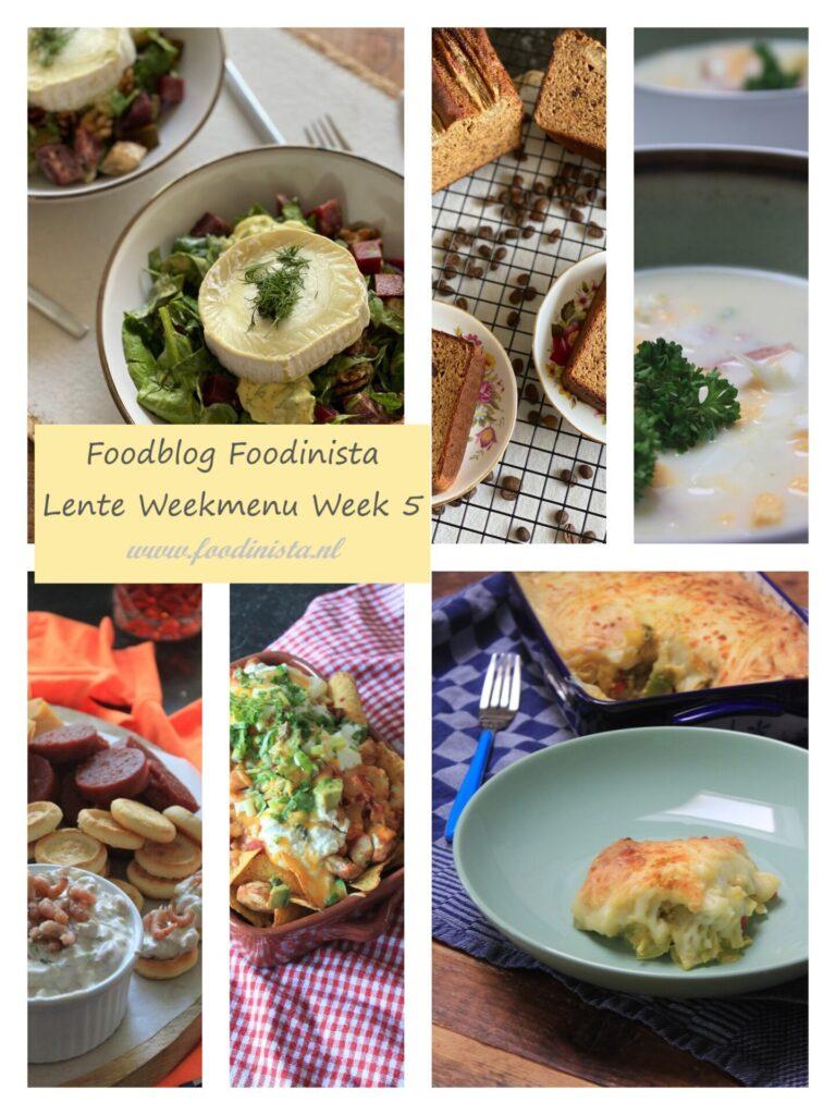 Foodinista weekmenu – Wat eten we deze week? – Weekmenu Week 5 Lente 2021