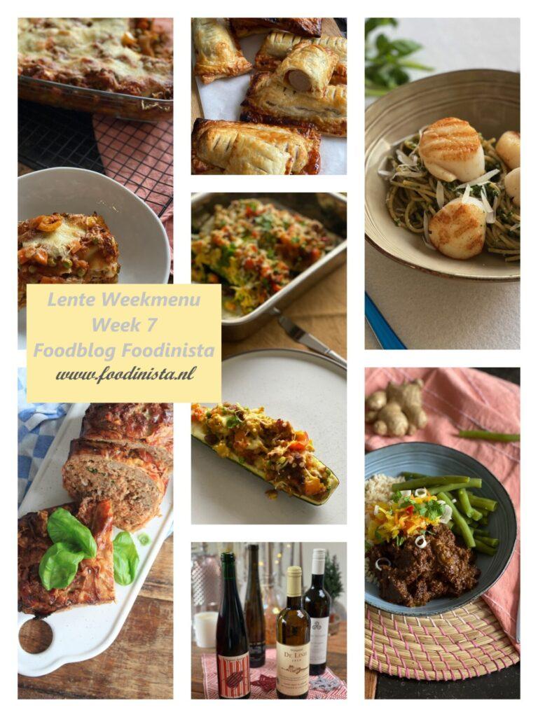 Foodinista weekmenu – Wat eten we deze week? – Weekmenu Week 7 Lente 2021