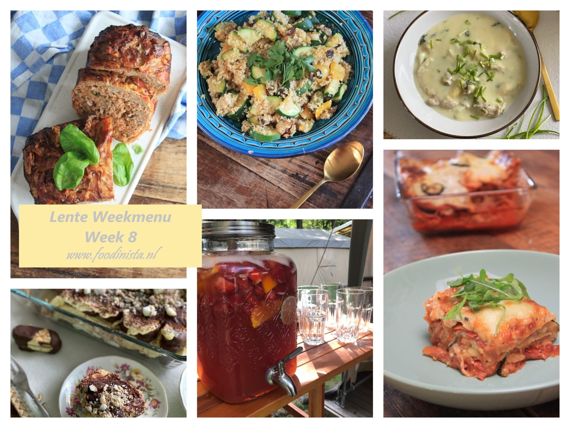 Foodinista weekmenu – Wat eten we deze week? – Weekmenu Week 8 Lente 2021 - Foodblog Foodinista