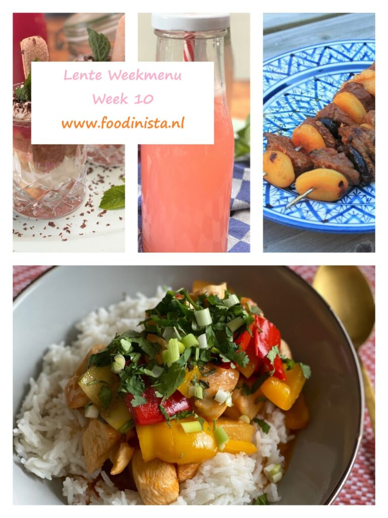 Foodinista weekmenu – Wat eten we deze week? – Weekmenu Week 10 Lente 2021