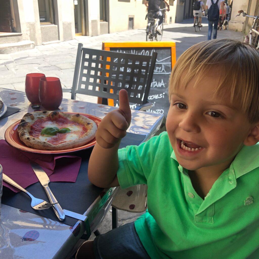 Lekker eten en drinken met kinderenin Lucca Toscane - Tips van Foodblog Foodinista