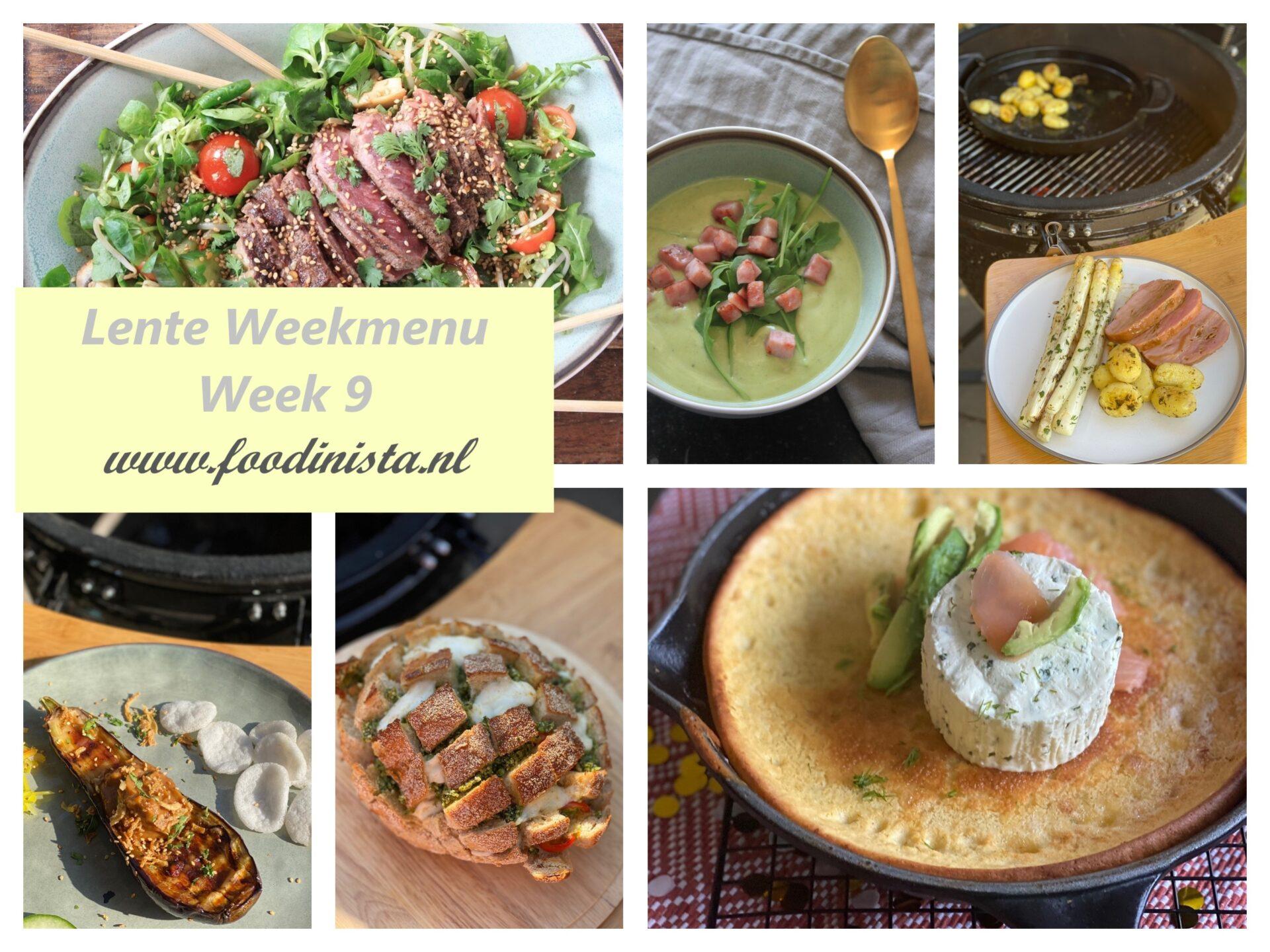 Foodinista weekmenu – Wat eten we deze week? – Weekmenu Week 9 Lente 2021