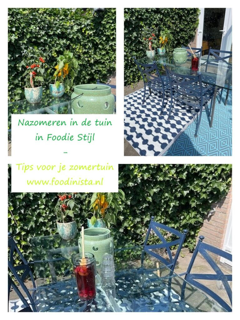 Daphne's Zomer Happy Musthaves Wk 3 – Nazomeren in de tuin in foodie stijl