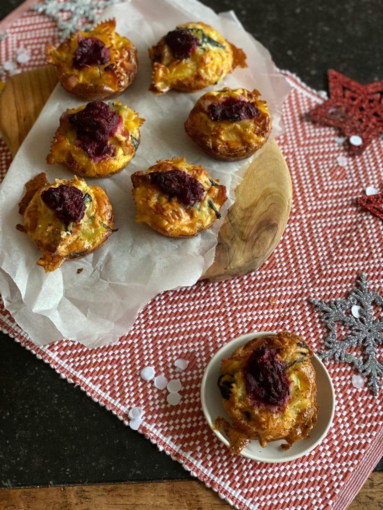 Mini frittata met kalkoen voor de kerstbrunch - Recept tip van Happy Weight